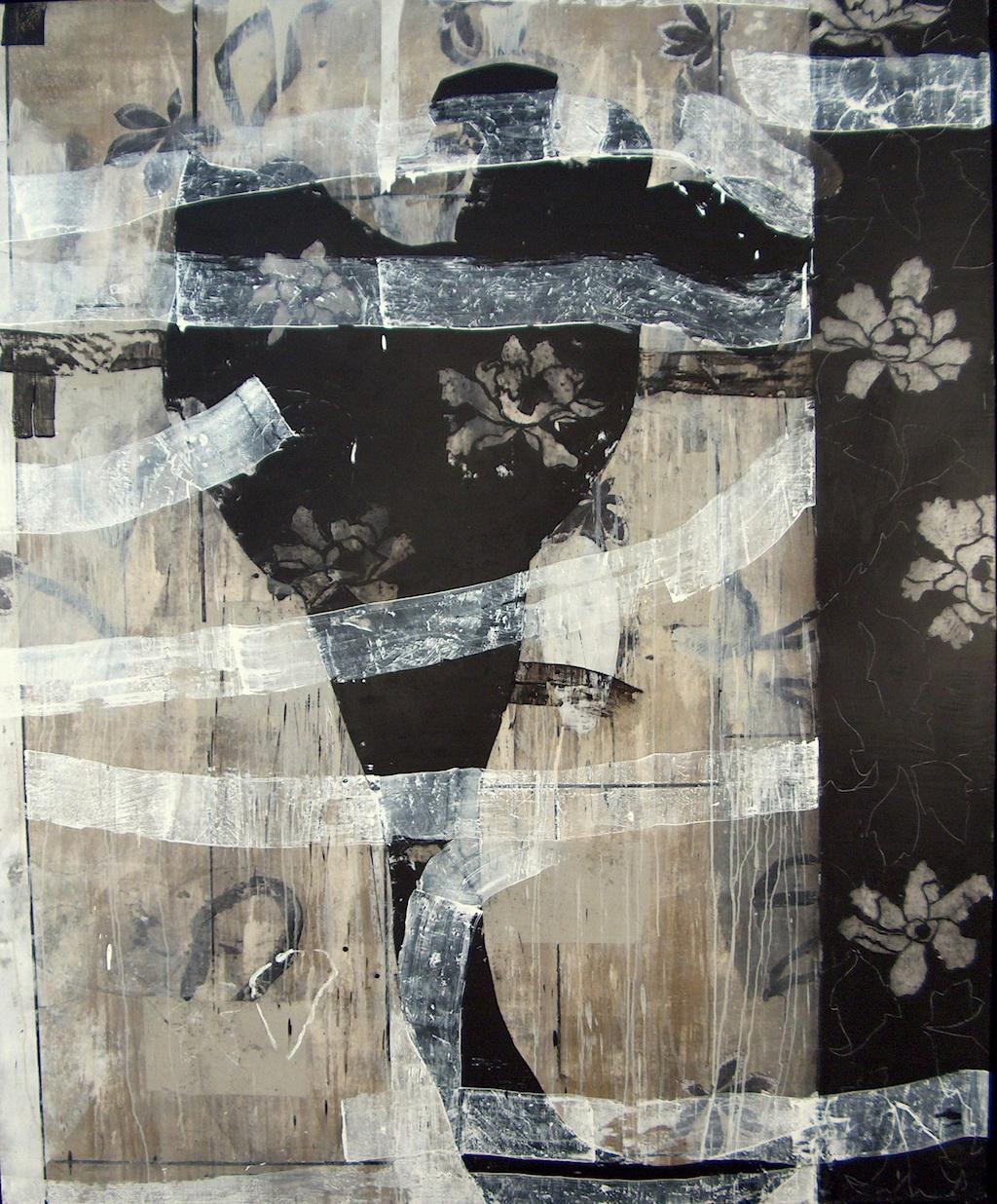PERFUME NEGRO I  T. Mixta / Tela sobre Madera, 195 x 162 cm.