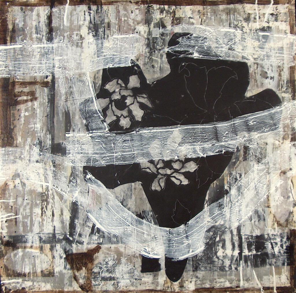 CALA NEGRA T. Mixta / Tela sobre Madera, 100 x 100 cm.