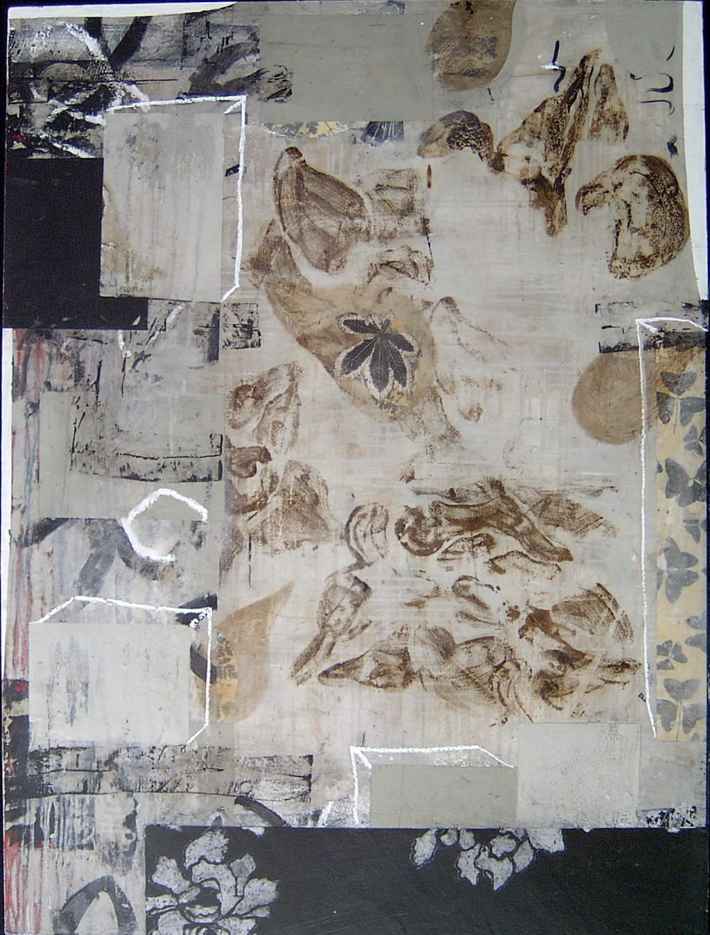 DESDE DENTRO  T. Mixta / Tela sobre madera, 130 x 97 cms.