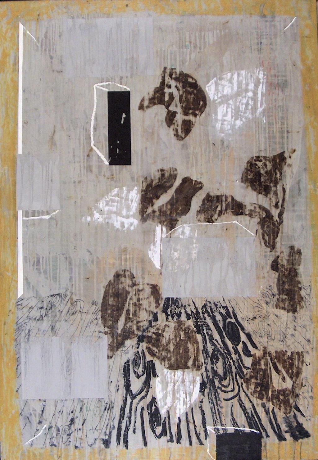 INTERIOR  T. Mixta / Tela sobre Madera, 116 x 89 cm.