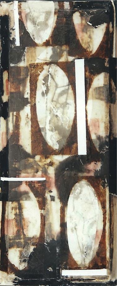 ISLA DE OTOÑO II  T. Mixta / Tela sobre madera, 43 x 18 cms.
