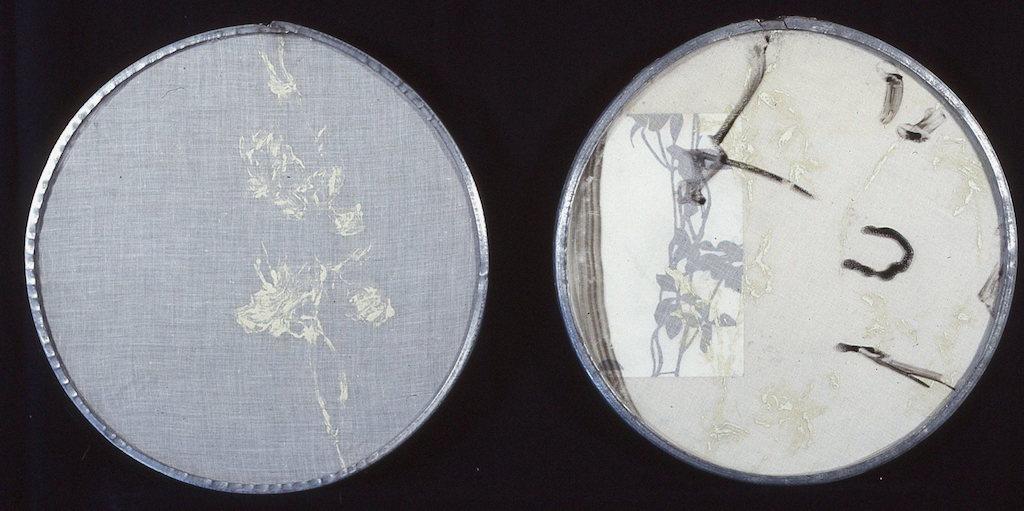 JUNTO A LA SOMBRA DE LA VIDA  T. Mixta / Tela y papel Díptico, 30,5 x 30,5 cms.