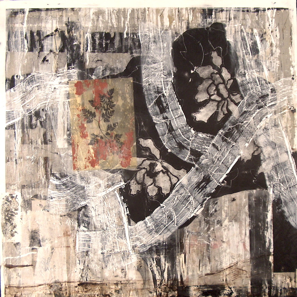 LOTO  T. Mixta / Tela sobre Madera, 100 x 100 cm.
