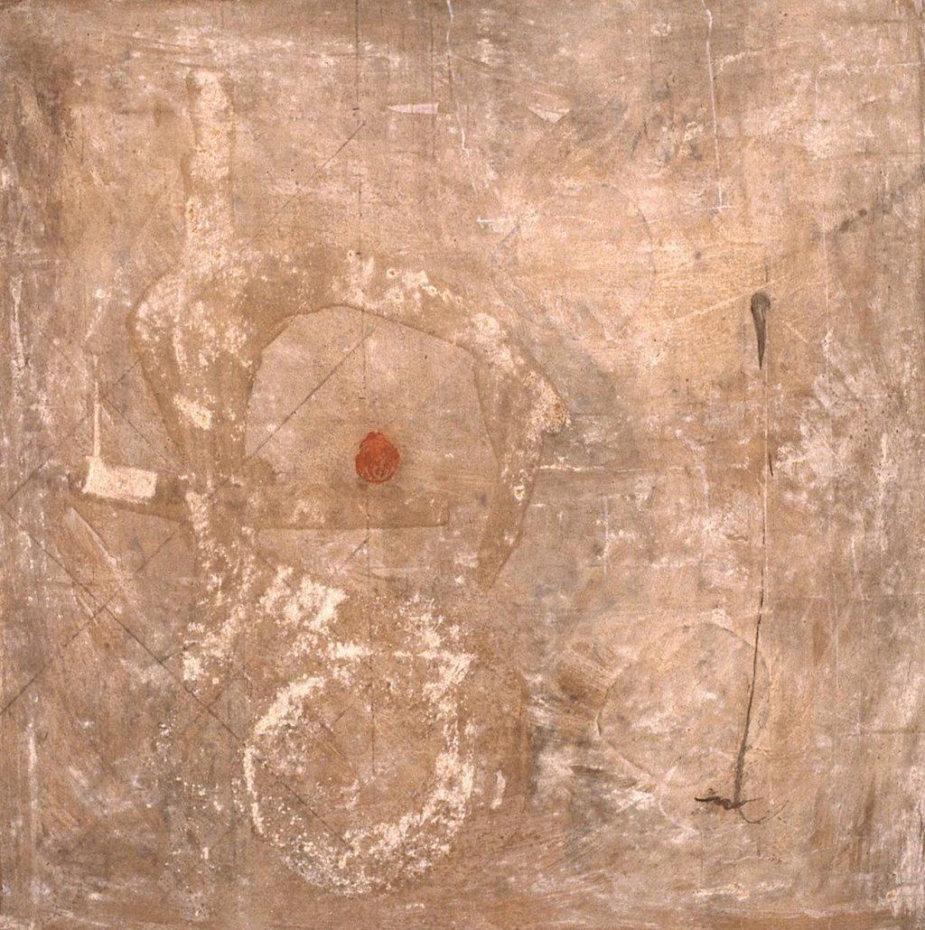 NARA II  T. Mixta / Tela sobre Madera, 100 x 100 cm.