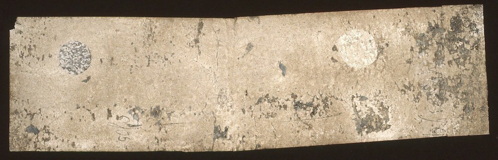 OJO Y LUNA  T. Mixta / Tela sobre madera. 31 x 110 cms.