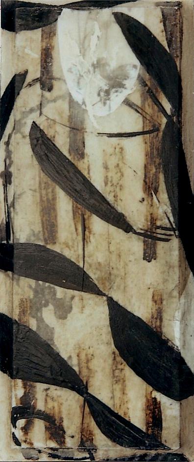 OLAS I T. Mixta / Tela sobre madera, 43 x 18 cms.