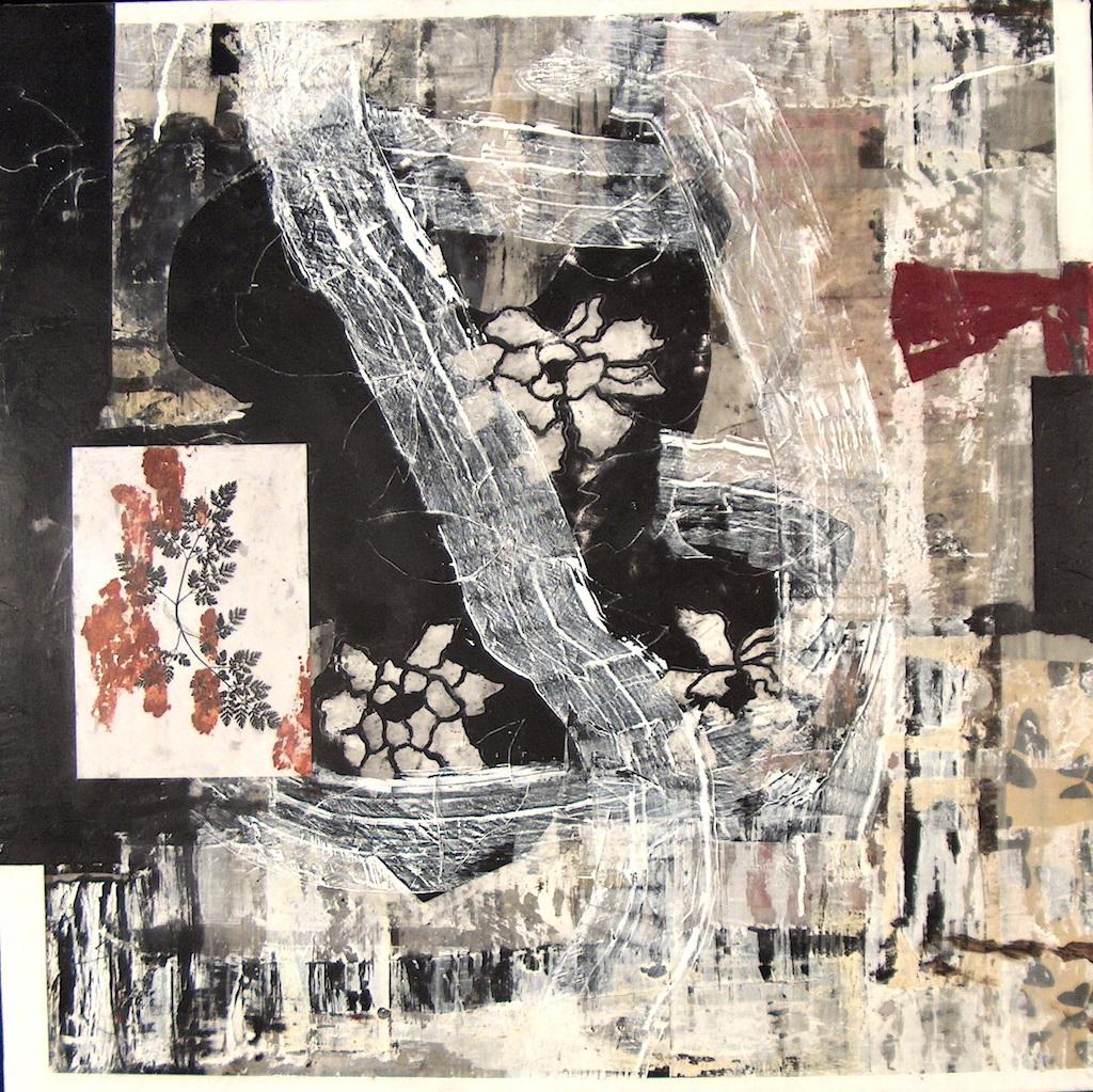 OTOÑO ROJO T. Mixta / Tela sobre Madera, 100 x 100 cm.