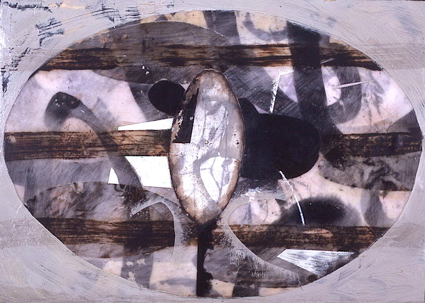 PAPÁ CUBISMO, MAMÁ TAMBIÉN T. Mixta / Tela, 33 x 46 cms.
