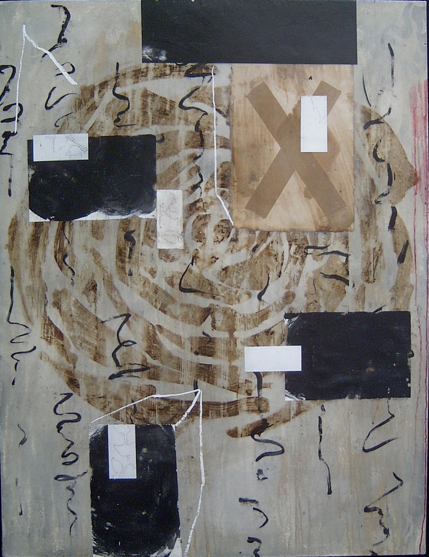 ROSA INGLESA T. Mixta / Tela sobre madera, 116 x 89 cms.