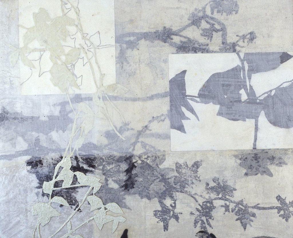 SOMBRA TROCEADA III  T. Mixta / Tela y Papel, 46 x 55 cms.