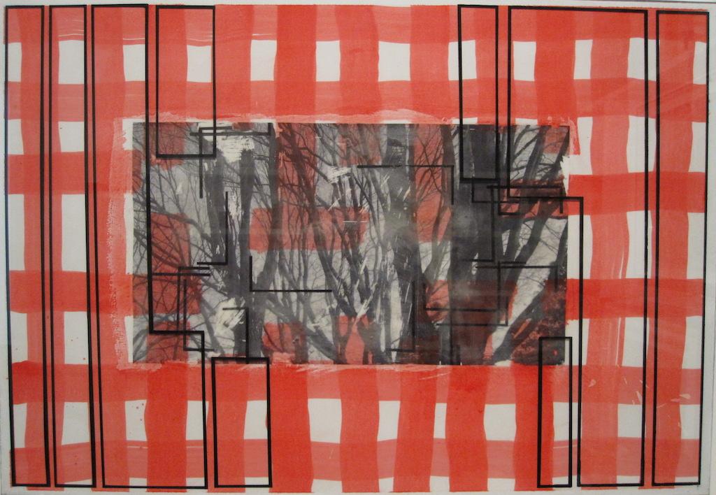 VENTANA MONEO. T. Mixta / Papel y vidrio. 68 x 98 cms.