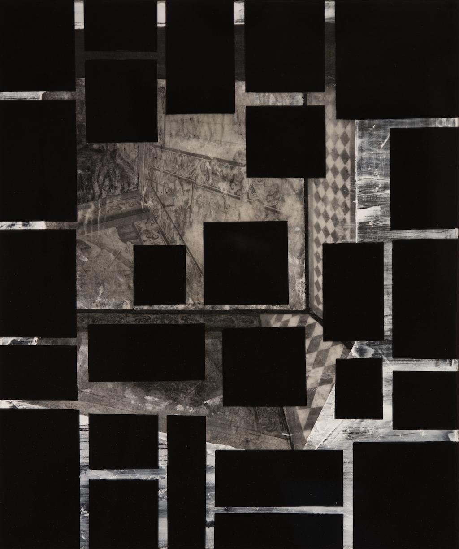 ESPACIO OCULTO I. T. Mixta / Tela sobre madera y vidrio. 55 X 46