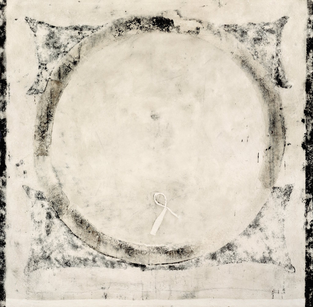 ARO BLANCO T. mixta / Tela sobre madera, 162 x162 cm.