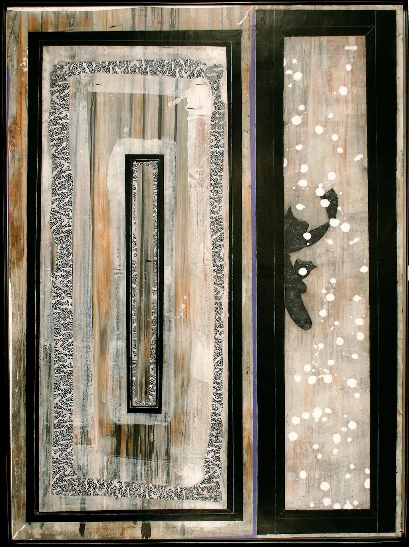 PALACIO DE NIEVE  T. Mixta / Tela sobre madera 195 x 146 cms.