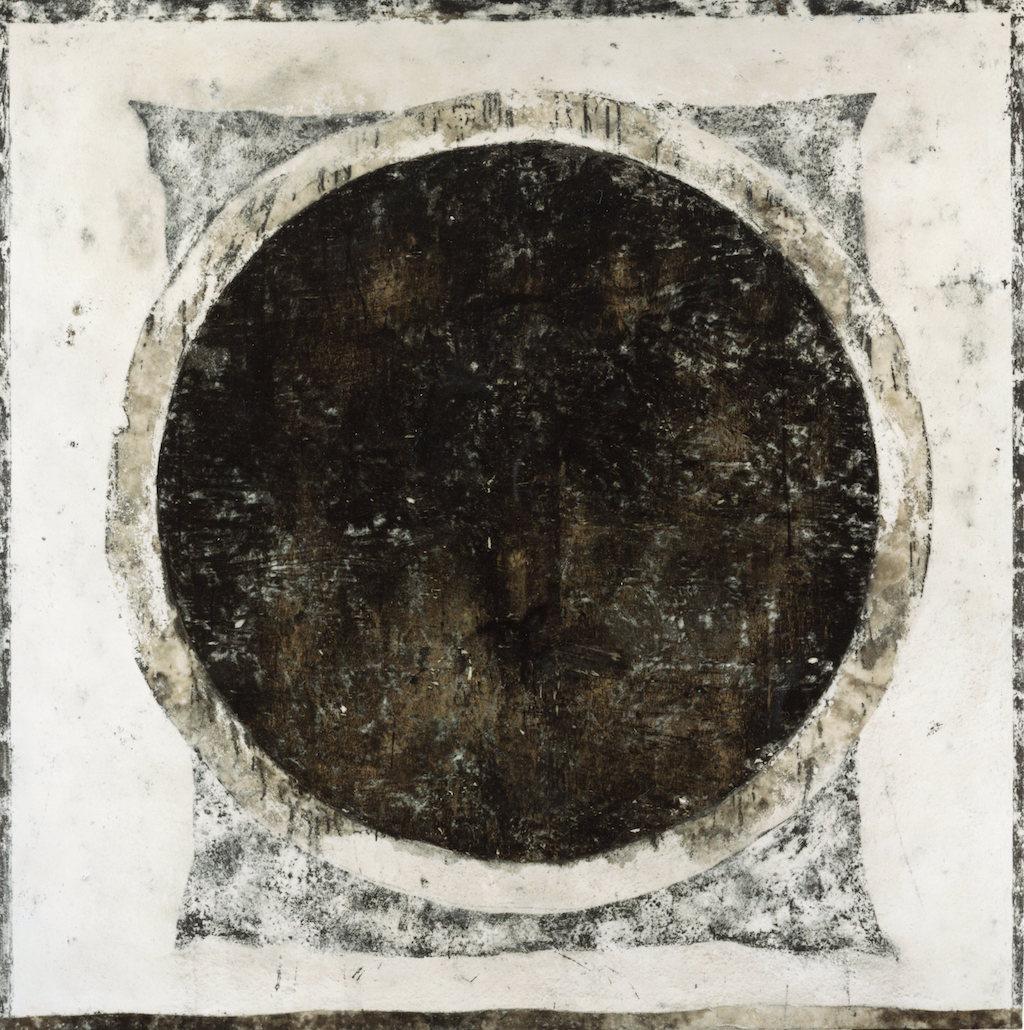 ARO NEGRO T. mixta / Tela sobre madera, 162 x162 cm.