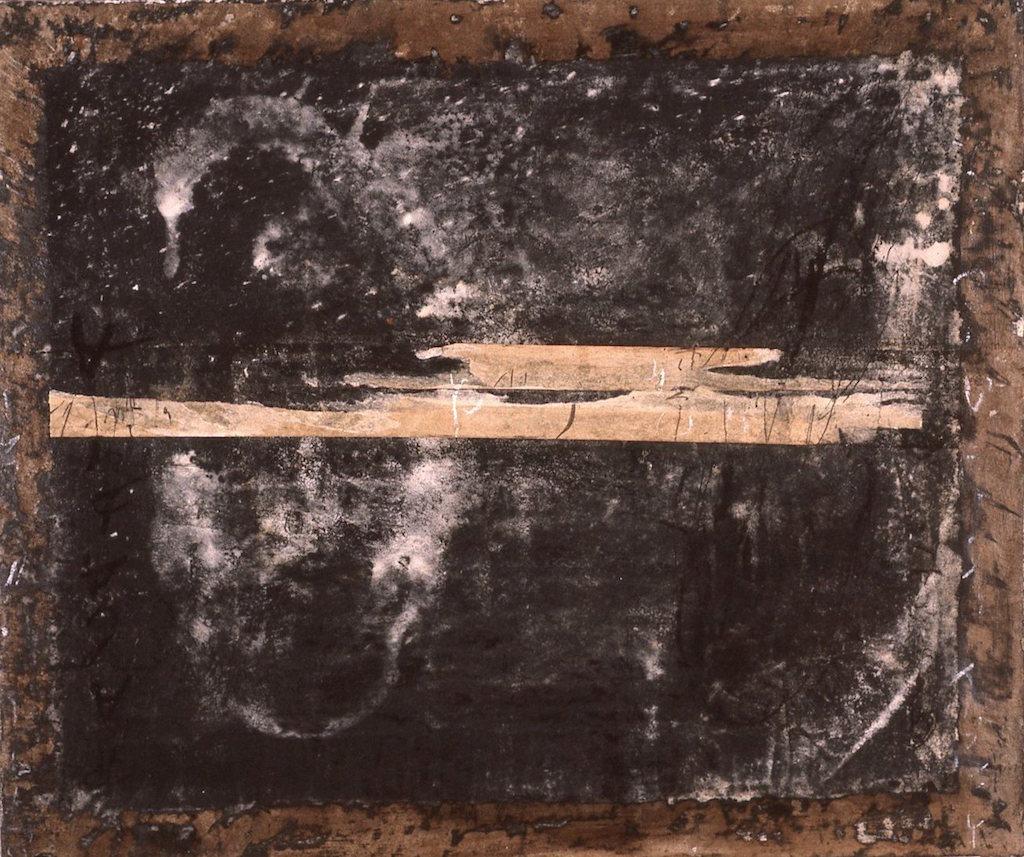 CALIGRAFÍA Y PINTURA T. Mixta / Tela. 46 x 55 cms.