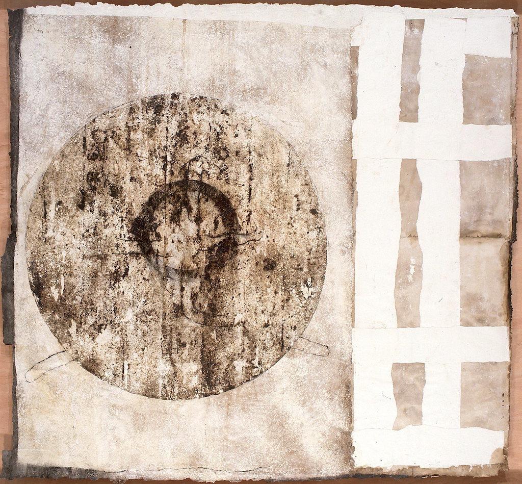 CAMINOS DE AGUA T. Mixta / Papel sobre Madera. 157 x 167 cms.