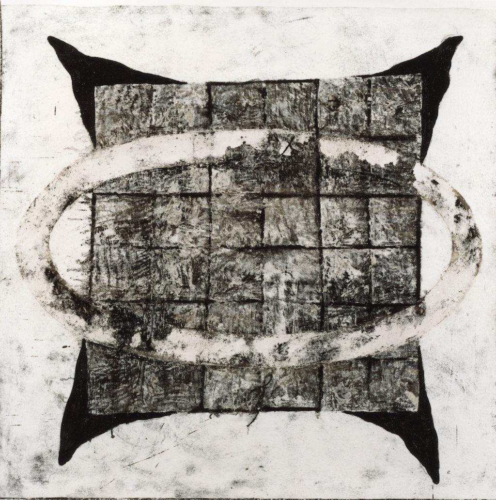 CRACK   T. mixta / Tela sobre madera, 162 x162 cm.