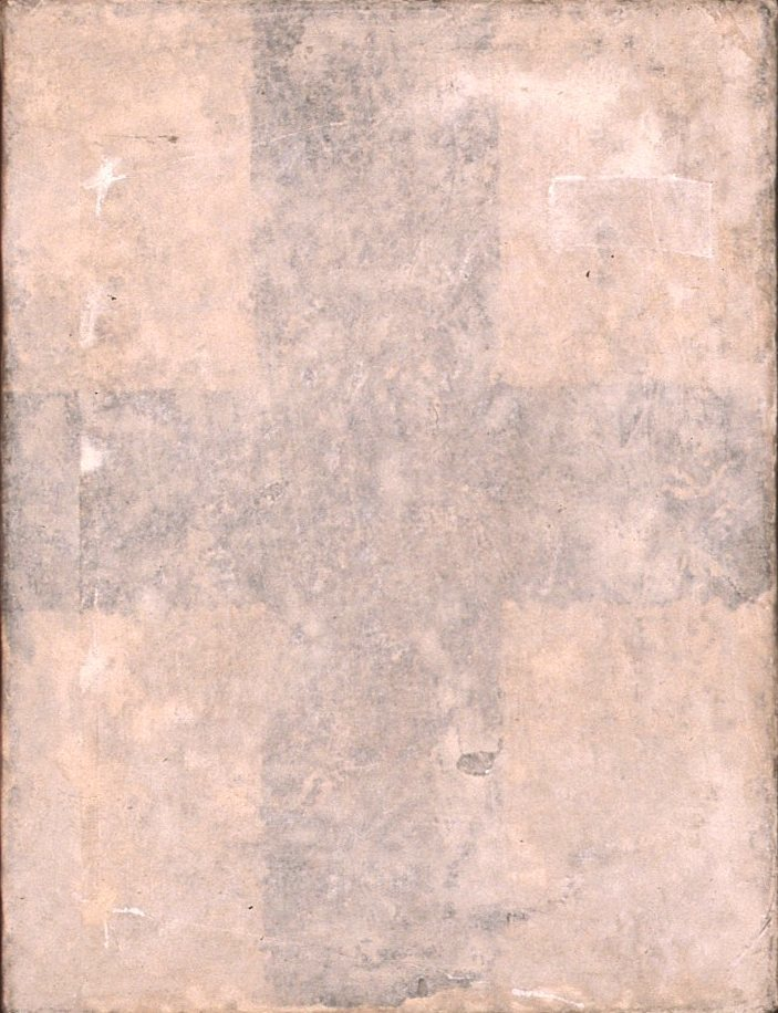 CRUZ NEGRA  T. Mixta / Tela y papel sobre madera. 20 x 15 cms.