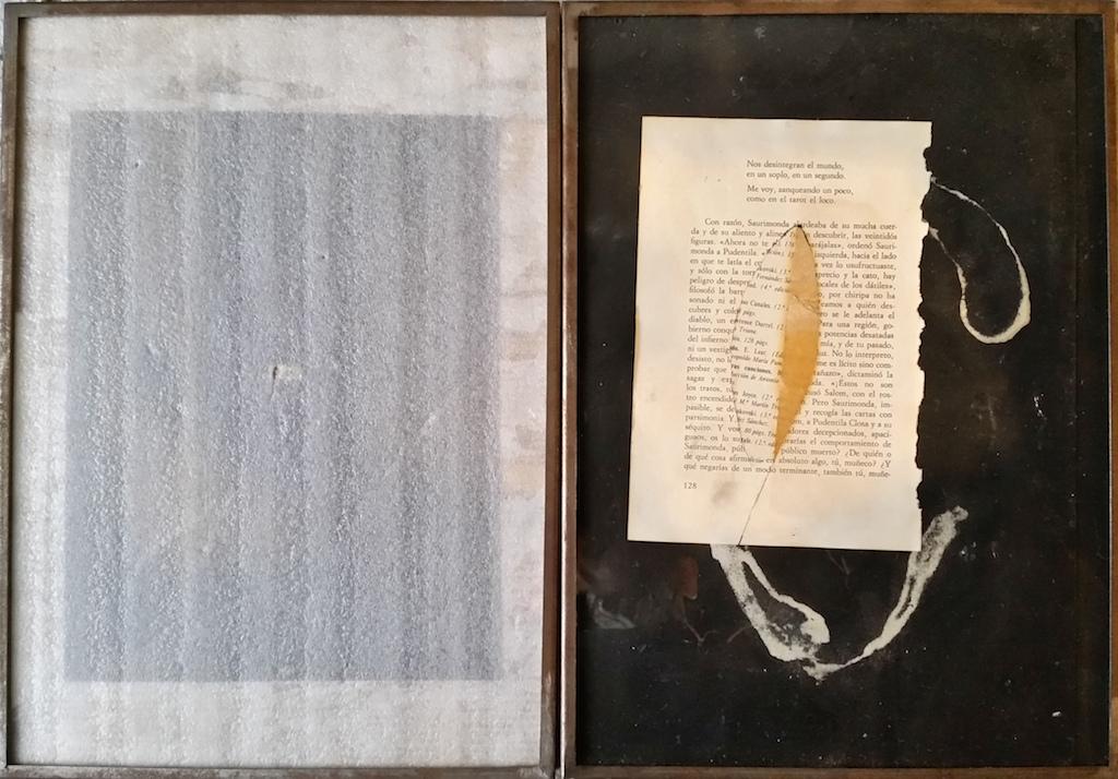 EL OJO DEL HURACÁN. (DÍPTICO) T. Mixta / Papel. 35 x 50 cms.