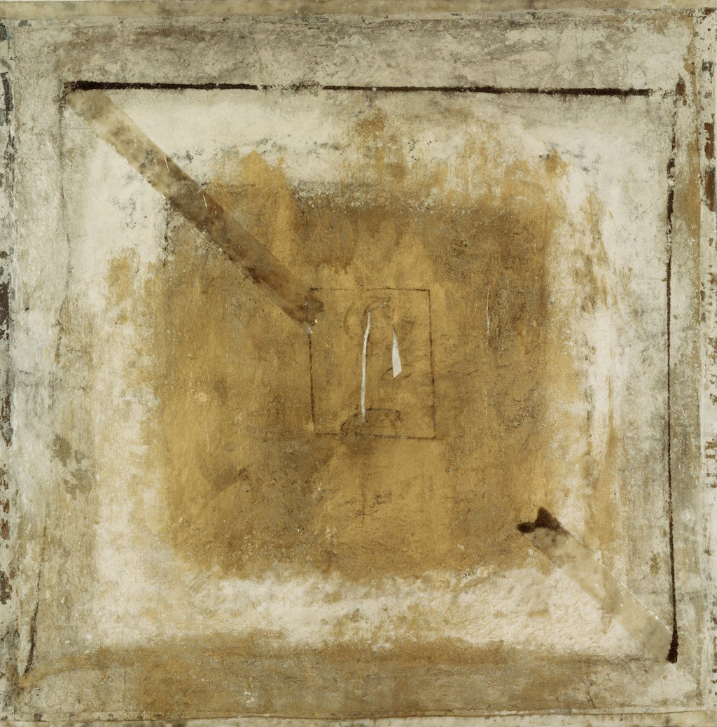 ESCENARIO  T. mixta / Tela sobre madera, 81 x 81 cms.