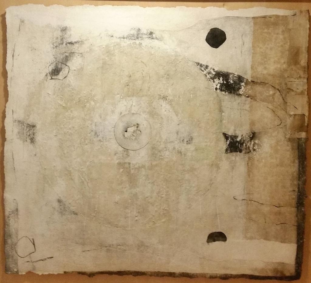 JARDÍN PROHIBIDO T. Mixta / Papel sobre madera. 157 x 167 cms.