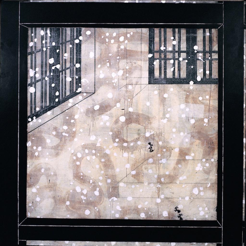 josé jaLA SECRETA HABITACIÓN DE TERCIOPELO T. Mixta / Tela sobre madera 160 x 160 cm.oven exposición frio
