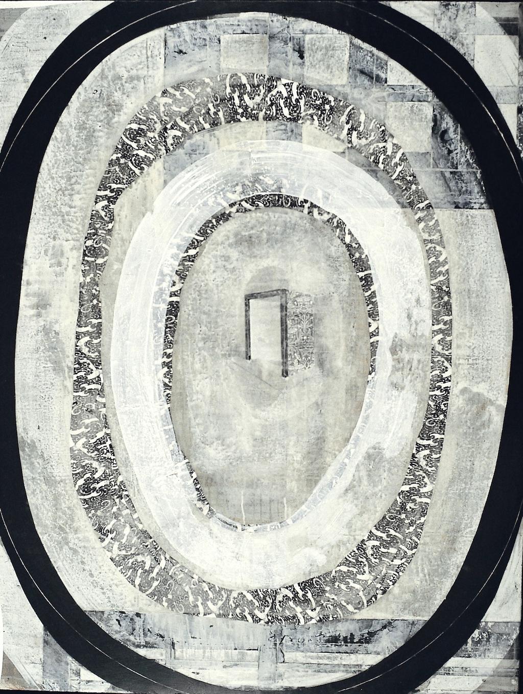LLEGA LA MAÑANA T. Mixta / Tela sobre madera. 116 x 89 cms.
