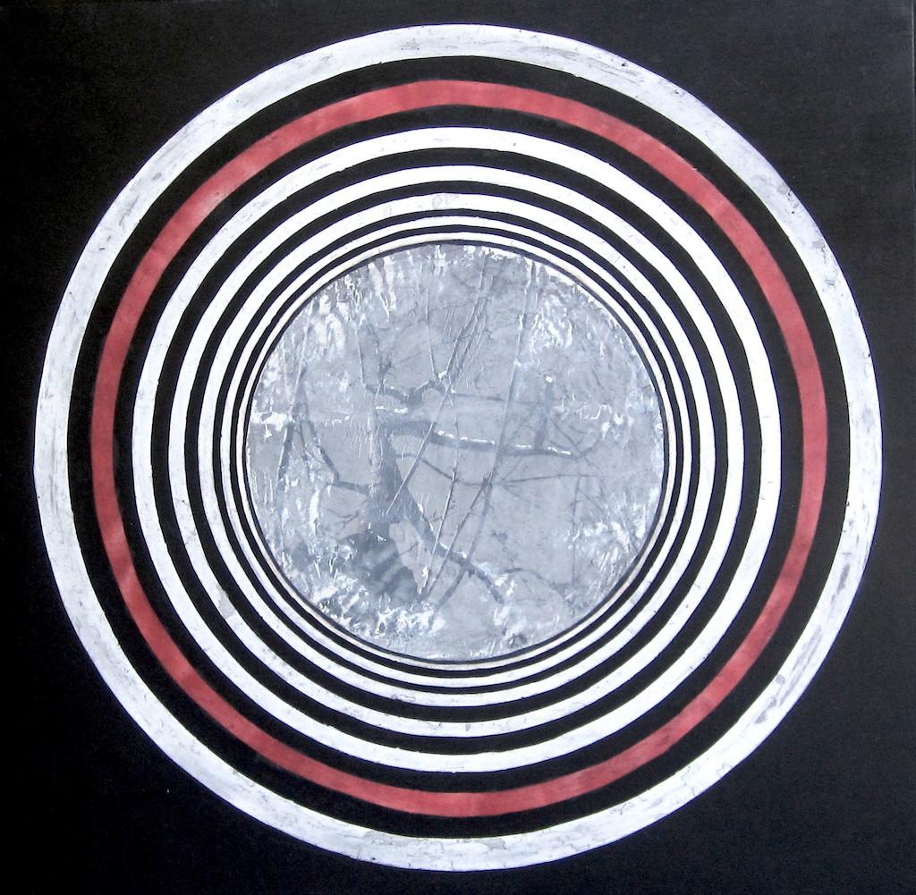 MEMBRILLO SIN SOL  T. Mixta x Tela sobre madera 100 x 100 cms.