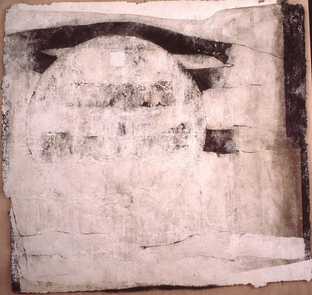 NOCHE BLANCA T. Mixta / Papel sobre madera. 157 x 167 cms.