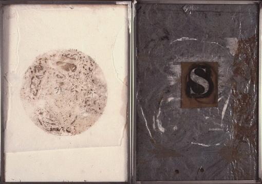PALABRAS II. (DÍPTICO)  T. Mixta / Papel. 35 x 50 cms.
