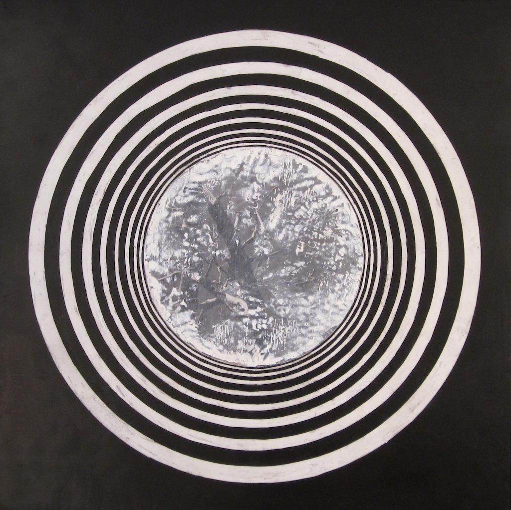 PASEO CIRCULAR I  T. mixta / Tela sobre madera 100 x 100 cms.