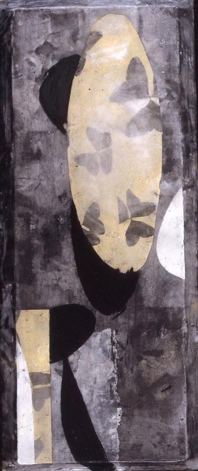 PLAYA II T. Mixta / Tela sobre madera, 43 x 18 cms.