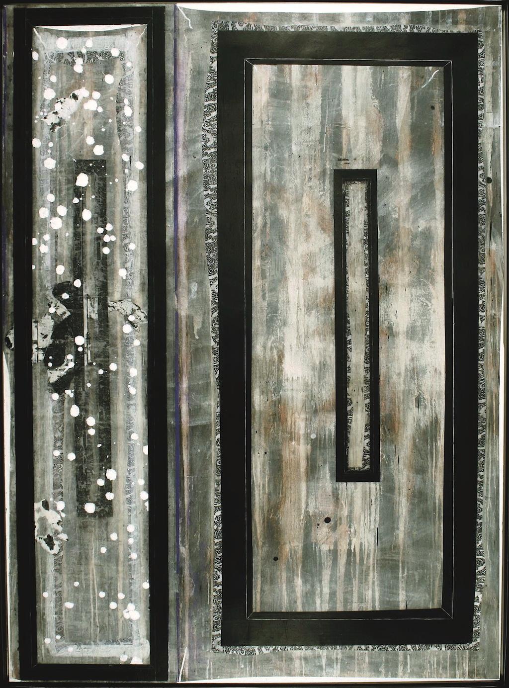 PRISIÓN DE NIEVE T. Mixta / Tela sobre madera 195 x 146 cms.