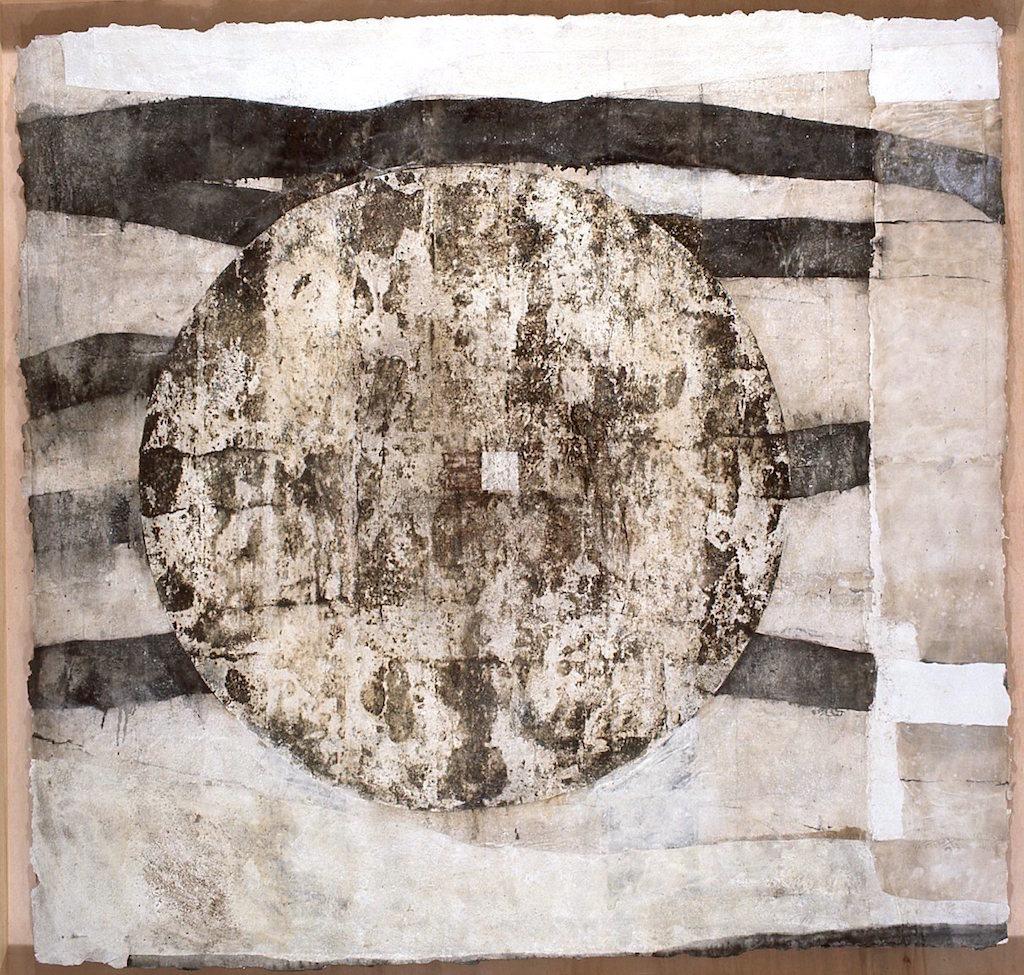 S/T  T. Mixta / Papel sobre Madera. 157 x 167 cms.