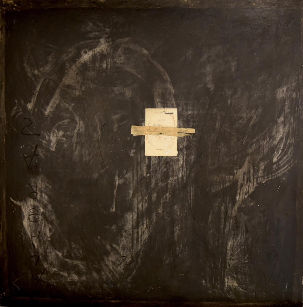 SILENCIO / SONIDO T. mixta / Tela sobre madera. 130 x 130 cms.
