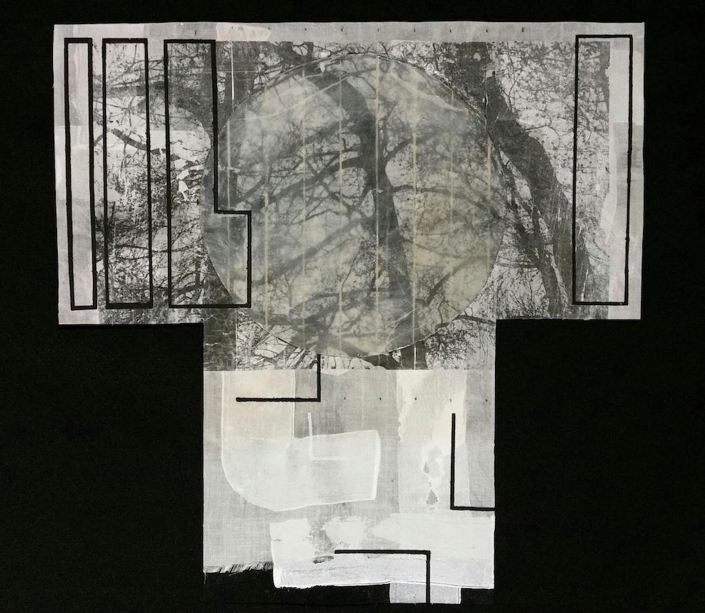 GRAN LUNA. T. Mixta / Seda 40 x 40 cms